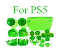 Transparent Controller Buttons Joystick Key Replacement Shell Case Cover Cap L1 R1 L2 R2 Clear for PS5 Gamepad Handle Accessories