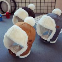 طفل الفتيان الفتيات قبعة أطفال الأطفال الأذن رفرف المفتش الشتاء الدافئة أفخم القطن كاب في lei فنغ كاب قبعة قبعة هدايا قبعة 2-3 سنوات 1184 x2