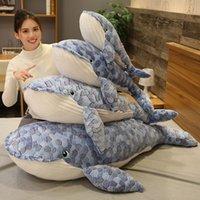 50-150 cm Dimensione gigante Balena Peluche Giocattolo Blu Sea Animali Piecili Giocattoli farciti Abbraccio Shark Soft Animal Pillow Bambini regalo 0341