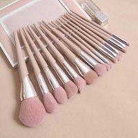 Makeup Brushes Fashion Beauty Cosmetic Nude Pink FB Powder Blusher Highlighter Brush Eyeshadow Blending Nose Eyebrow Lip