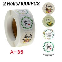 Wedding Decoration Thank You Sticker 1000pcs Label Labels Scrapbooking Wall Stickers