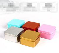 كبيرة الحجم مربع شعبية القصدير مربع فارغة معدن تخزين حالة المنظم خبأ 5 ألوان 8.5 سنتيمتر طول للمال عملة الحلوى مفاتيح يو القرص سماعات