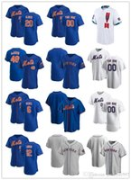 "Personalizado Jersey Mens Mulheres Juventude New York ""Mets"" 6 Jeff McNeil 20 Pete Alonso 12 Francisco Lindor 48 Jacob Degrom Baseball Camisas"