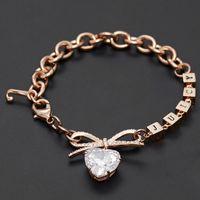 Luxury Ins Cool Wind Love Bow Rubik'sCube Diamond Heart Crystal Zircon Letter Bracelet