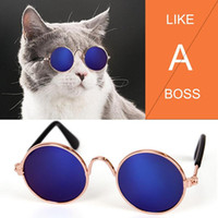 Dog Apparel Fashion Pet Cat Sunglasses Glasses Eyewear Cool Eye-Protection Anti-wear Wear Grooming Pos Props Accessories Blue