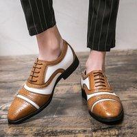2021men verão mens ocasional piergitar espaçosa moda forma formal oxford moccasins tendência marca velha para sapatos de vestido de homem marrom
