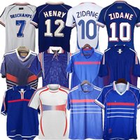1998 Fransa Retro Zidane Henry Futbol Formaları 1996 2004 Platini Futbol 1984 Camisa Trezeguet 1982 Francia 2006 Deschamps Petit 2000 Djorkaeffff Pires Maillot