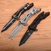 CS 219 220 Knuckle Duster Pocket Bıçak Katlanır Bıçak 8Cr13MOV Çelik Kolu Avcılık Taktik Kamp Bıçaklar 221
