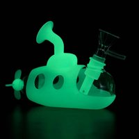 Submarine style hookahs silicone glass visible smoking water bong pipe shisha