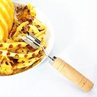 Pelacciata in acciaio inossidabile Peeling in legno peeling pala fuori forcella Forcella Avocado a forma di V a forma di ey-scavo da cucina frutta utensile verdure coltello