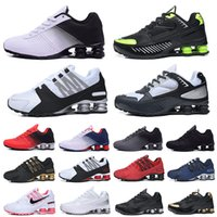 Shox TL мужские беговые туфли R4 Avenive доставляют доставку Chaussures Speed Neymar Trainers Enigma Triple Black White Silver Mens Womens на открытом воздухе Спортивные кроссовки