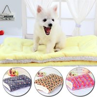 Kennels & Pens Thickened Pet Soft Fleece Pad Blanket Bed Mat For Puppy Small Medium Dog Cat Warm Sofa Cushion Sleeping Beds Cover