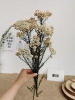 3Pcs Natural Dried Immortal Millet Flower Artificial Flowers Ramillete Flores Eternell Bouquet For Home Decor Decorative & Wreaths