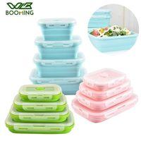 Бутылки для хранения JARS WBBOMING силиконовые складные Bento Box складной портативный обед для еды посуда контейнерные чаши детей взрослый