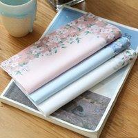 مطبوعة زهرة منديل المرأة القطن المناديل الزهور هدايا الزفاف المناديل القماش الملونة السيدات جيب المناشف 43 * 43 سنتيمتر LLD8523