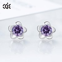 Japón y Corea del Sur Creative Exquisite Floret S925 Pendientes Pure Silver Girls 'Pendientes y accesorios para orejas Pendientes de mujer