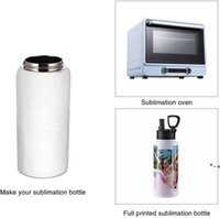 Sublimation Blank Tumbler 32 OZ White Vacuum Flask Stainless Steel Sports Wide Mouth Water Bottle with Straw and Portable by sea HHE10637