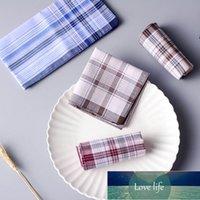 5 unids Multicolor Plaid Rayas Hombres Pocket Squares Negocio Toalla de Toalla Pocket Hanky Pañuelos Hankies Bufandas 100% algodón