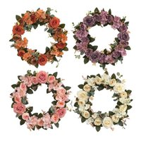 Christmas-Decor Fall Door Peony Wreath Home Wall Hanging Ornaments Garland 13'' Decorative Flowers & Wreaths