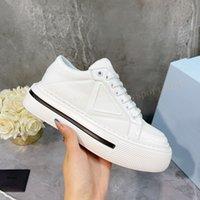 Top Quality Sapatos Casuais Moda Mulheres Plataforma Lona Lace Up Sneaker Clássico Branco Vermelho Preto Com Caixa Original