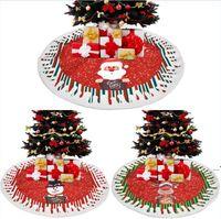Árbol de navidad Faldas de árboles Decoración Mat Navidad Muñeco de nieve Reno Ornamento Inicio Holiday Festival Decoraciones de fiesta OWB9469
