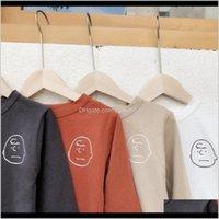 Milancel Boys Shirts Base Tees Blusa Baby Shirt para Niñas Niños Tops Casuales LJ200815 1OJUB UAXM5