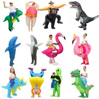 Mascote boneca traje adulto holloween trajes infláveis animais alienígena flamingo dinossauro t-rex disfraz festa divertido