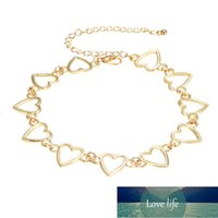 Women Hollow Heart Necklace Short Style Clavicle Chain Sweet Gold Color Pendant Necklace Jewelry Wholesale