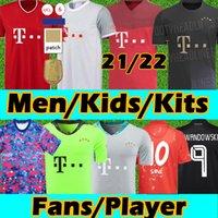 Bayern Munich 20 21 Sane Lewandowski Coman Gnaby Ventilados Versão Jerseys Alaba Davies Muller Bayern Munchen Soccer Jersey Munique 2021 Homens Crianças Futebol Tailândia
