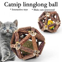 Cat Toys Catnip Ball Interactive Toy For Kitten Matatabi Polygonum Cleaning Cats Teeth Healthy Wooden Balls Pet Supplies