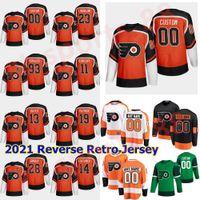 2021 Reverse Retro 필라델피아 전단지 Hockey Jerseys 82 Connor Bunnaman Justin Braun Samuel Morin Nate Thompson Lil Peep Custom Stitched