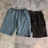 Homens shorts calças sólidas corredores preto praia azul praia único zíper bolso Currous casual calças casuais