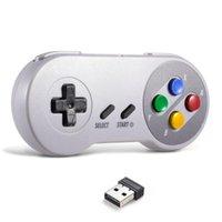 Controller di gioco Joysticks Wireless Gamepad 2.4GHz Remote Controller USB Joystick Console per SNES / NES Games Windows 10/8/7 PC Raspberry P