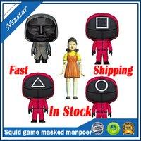 Inktvis Game Figuur Kit Cosplay Populaire Koreaanse Film Masked Man Hars Decoratie Houten Figuur Hand-Made Collection Gift Games speelgoed