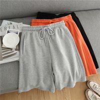 Women's Shorts Sweat For Women Sport Casual Elastic Drawstring High Waist Sweatshorts Baggy Soft Cotton Bottoms Summer Clothes Fashion