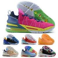 James Basketbol Ayakkabı 18 18 S Gelecek için Oyna Kylian Mbappe Grafiti Mavi Renk Tonu Yansımaları Flip Gang Kardeşlik Gece 2021 Erkekler Sepetleri Sneakers