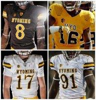 NCAA College Jerseys Wyoming Cowboys 6 Xazavian Valladay 12 Sean Chambers 17 Raghib Ismail JR 18 타일러 Vander Waal 맞춤형 축구 스티치