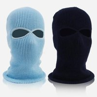 Cycling Caps & Masks Winter Balaclava 2 3 Hole Full Face Mask Cap Knitting Motorcycle Shield Outdoor Riding Ski Mountaineering Head Cover