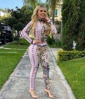 Sweatsuits Designer Vestiti Top e Pantaloni Moda Donna Leopardo Stampa Tracksuit Casual Outfit Sport Suit da donna Due pezzi Set