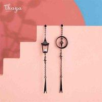 Thaya Vintage Pendant Earrings Dropping Pearl Lantern Handmade s925 sterling Silver Studs For Women Female Fine Jewelry 210625