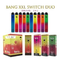 Bang XXL Switch Duo 2 in 1 Disposable Vape Pen E cigarette 7ml Pod Device 2500 Puffs pk Geek Puff Bar Plus Vapes Starter Kit Pre-filled