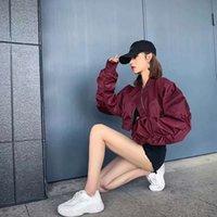 coats Casual loose pilot wear Korean Taobao Jacket Women's spring and autumn versatile Baseball Shirt