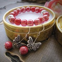 Earrings & Necklace 2021 Arrival China Style Fashion Accessories Classic Jewelry Set With Box Handmade Ceramic Bracelets