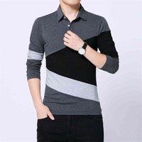 Polo Strayed Design Hommes Sourte à manches longues Spring Spring Vêtements d'automne plus Asiatique Taille M-3XL 4XL 5XL