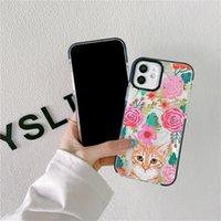 حالات حماية الكاميرا الوفير الحالات الهاتف لفون 12 11 برو XR XS ماكس × 8 7 زائد القطط الملونة والجمار صدمات الغطاء الخلفي