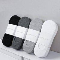 Großhandel-20 Paare / los Mode Neue Herren Baumwollsocken Niedrige Socken Baumwolle Nahtlose Unsichtbare Socken Socke