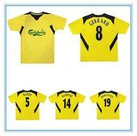 2004 2006 Alonso Gererrard Retro Fussball Jersey 2005 Baros Hamann Carragher Luis Garcia Kewell Cisse Vintage Classic Football Shirt