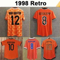 1988 # 12 Van Basten # 10 Gullit # 17 Rijkaard Mens Soccer Jerseys 1998 Holanda # 8 Bergkamp Camisas de futebol 1995 1991 1988 Bergkamp Retro