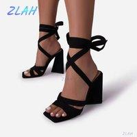 Sandals Women High Heel Summer Fashion Women's Shoes Zlah Cross Strap Gladiator