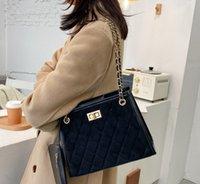 Designer Diamond Lattice Bags One Shoulder Handbags Korean Version Chain Fashion Trend Bag Square Large Capacity Handbag